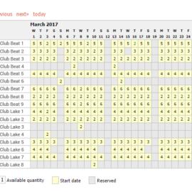 Fishing Availability Calendar